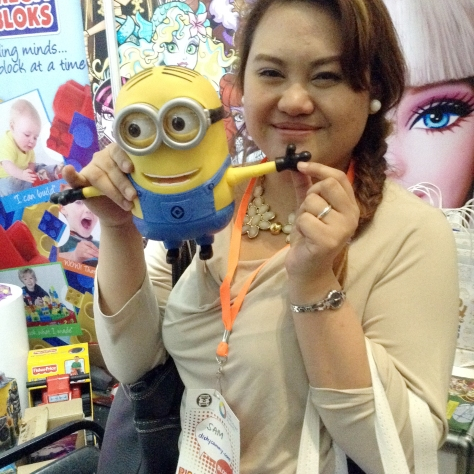 Sam Lanuza with minion Dave