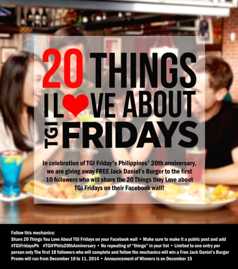 20 things i love TGIF