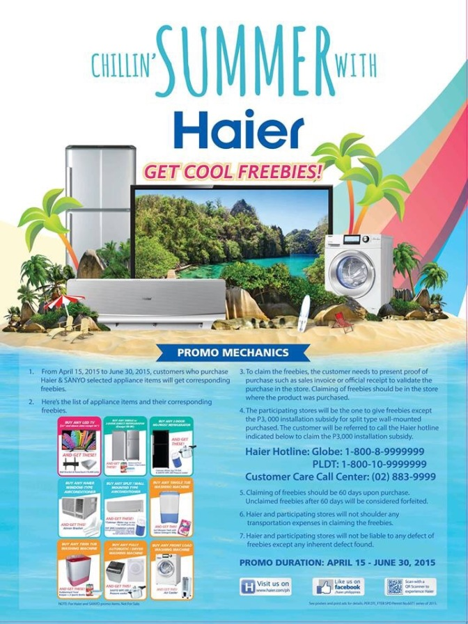 Promo Alert | Haier is Chillin' Summer until June 30!
